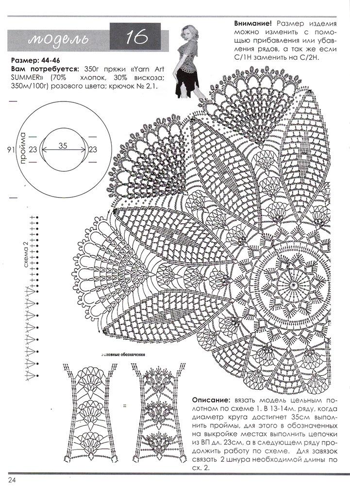 Вязание крючком модели по кругу схемы